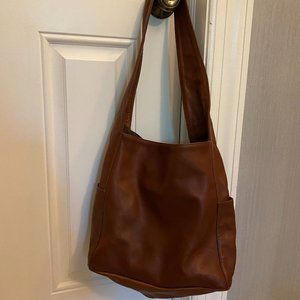Eileen Fisher Brown hobo everything purse bag